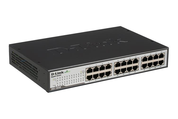 D-Link 24 Port Copper Gigabit Switch (Desktop Size) (DGS-1024D)