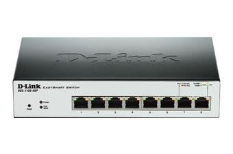 D-Link 8 Port Gigabit EasySmart Switch (PoE)