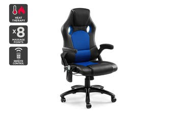 Ergolux RX8M Massage Gaming Office Chair (Blue - Racing Series)