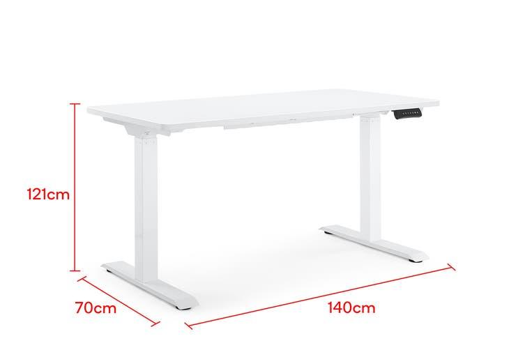 Ergolux Electric Dual Motor Standing Desk (White)