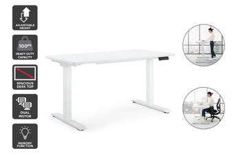 Ergolux Electric Dual Motor Standing Desk (White)