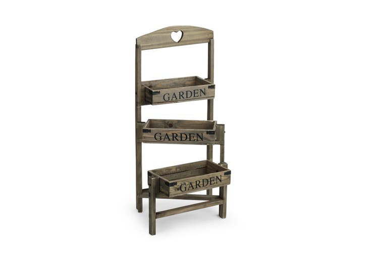 Pine Wood 3-Tier Garden Shelf
