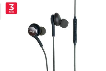 3 Pack Samsung AKG EO-IG955 In-Ear Earphones (Black)