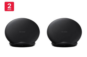 Samsung Fast Charge Wireless Charging Stand 2018 (Black) - EP-N5100 - 2 Pack