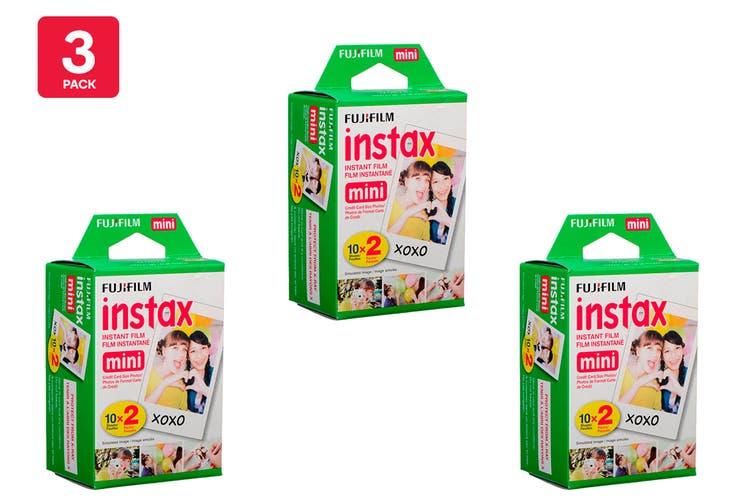 Fujifilm Instax Mini Film - 20 Sheets (3 Pack)