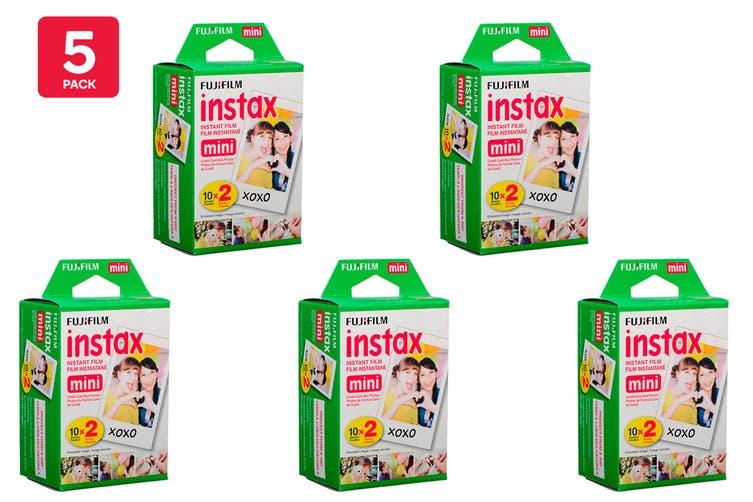 Fujifilm Instax Mini Film - 20 Sheets (5 Pack)