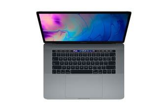 """Apple 15"""" MacBook Pro with Touch Bar (2.6Ghz i7, 16GB RAM, 512GB SSD, Space Grey) - MR942"""
