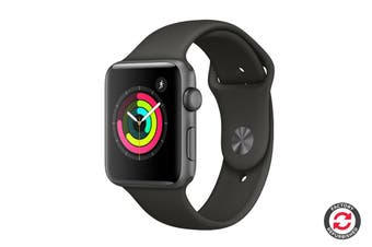 Apple Watch Series 3 Refurbished (Space Grey, 42mm, Grey Sport Band, GPS Only) - A Grade