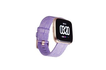 Fitbit Versa Smart Fitness Watch Special Edition (Lavender with Woven Band)