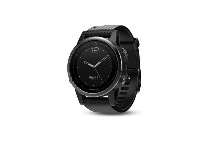 Garmin Fenix 5S Sapphire Edition Black with Black Band