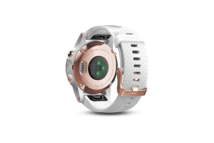 Garmin Fenix 5S Sapphire Edition Rose Goldtone with White Band
