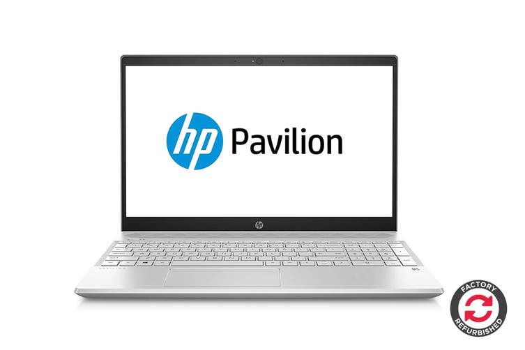 "HP Pavilion 15-cs0053cl 15.6"" Windows 10 Laptop (i7-8565U Quad-Core, 8GB RAM, 1TB, Silver) - Certified Refurbished"