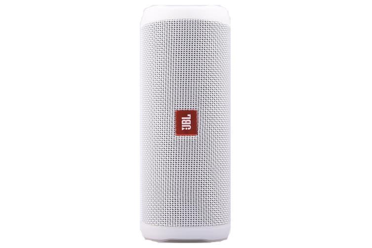 JBL Flip 4 Waterproof Bluetooth Speaker (White)