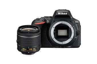 Nikon D5500 DSLR Camera with 18-55mm AF-P Lens Kit (Black)