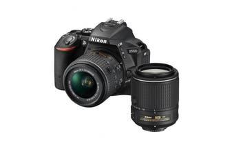 Nikon D5600 DSLR AF-P 18-55mm VR & 55-200mm VRII Twin Lens Kit
