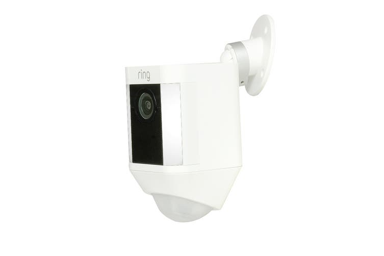 Ring Spotlight Wireless Security Camera (White)