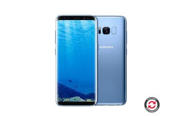 Refurbished Samsung Galaxy S8 Dual SIM (64GB, Coral Blue)