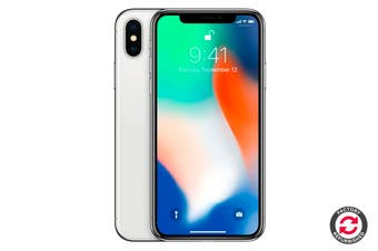 Apple iPhone X (64GB, Silver) - Apple Certified Refurbished