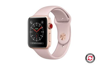 Apple Watch Series 3 Refurbished (Gold, 42mm, Pink Sand Sport Band, GPS + Cellular) - A Grade