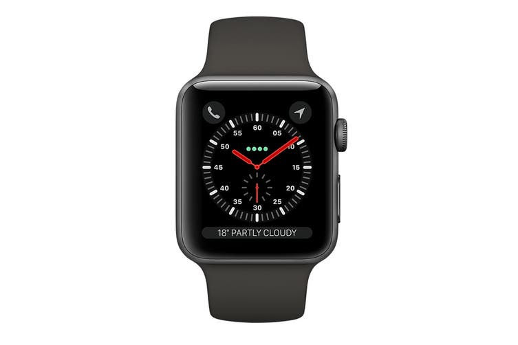 Apple Watch Series 3 Refurbished (Space Grey, 42mm, Grey Sport Band, GPS + Cellular) - A Grade