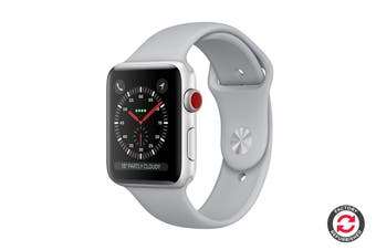 Apple Watch Series 3 Refurbished (Silver, 42mm, Fog Sport Band, GPS + Cellular) - A Grade