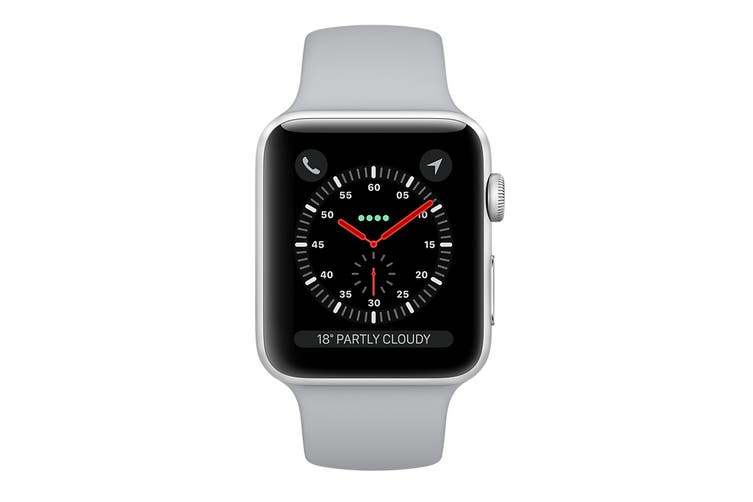 Apple Watch Series 3 Refurbished (Silver, 42mm, Fog Sport Band, GPS + Cellular) - A Grade