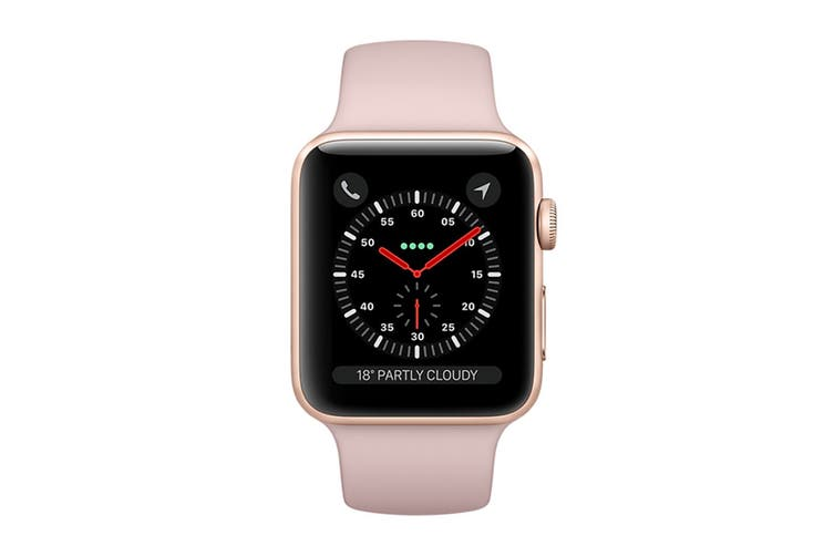 Apple Watch Series 3 Refurbished (Gold, 42mm, Pink Sand Sport Loop, GPS Only) - A Grade