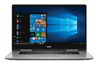 "Dell Inspiron 15 7573 15.6"" FHD Convertible 2-in-1 Touch Screen Windows 10 Laptop (i5-8250U, 8GB RAM, 256GB, Grey) - Certified Refurbished"