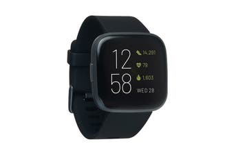 Fitbit Versa 2 Smart Fitness Watch (Black, Carbon Aluminium)