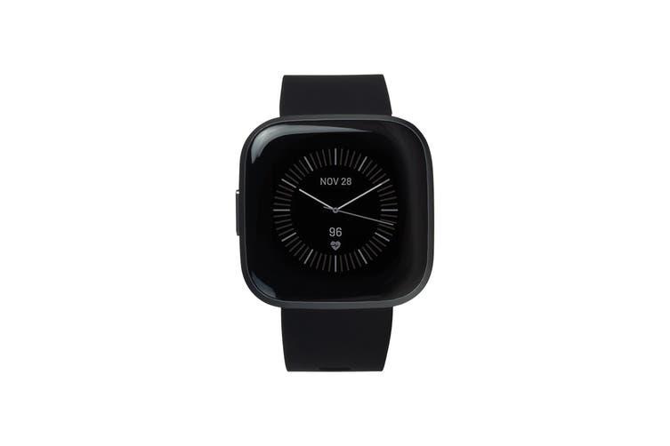 Fitbit Versa 2 Smart Fitness Watch (Black, Carbon Aluminium)