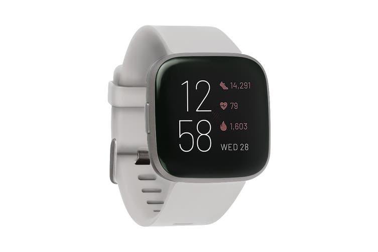 Fitbit Versa 2 Smart Fitness Watch (Stone, Mist Grey Aluminium)