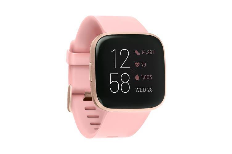 Fitbit Versa 2 Smart Fitness Watch (Petal, Copper Rose Aluminium)