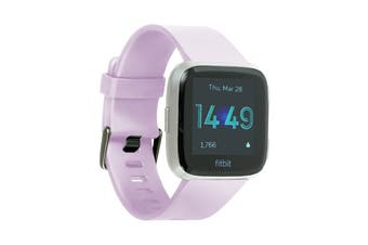 Fitbit Versa Lite Edition Fitness Watch (Lilac, Silver Aluminium)