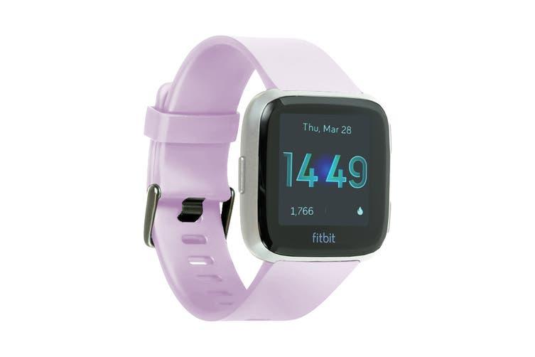 Fitbit Versa Lite Edition Fitness Watch (Lilac, Silver Aluminium)