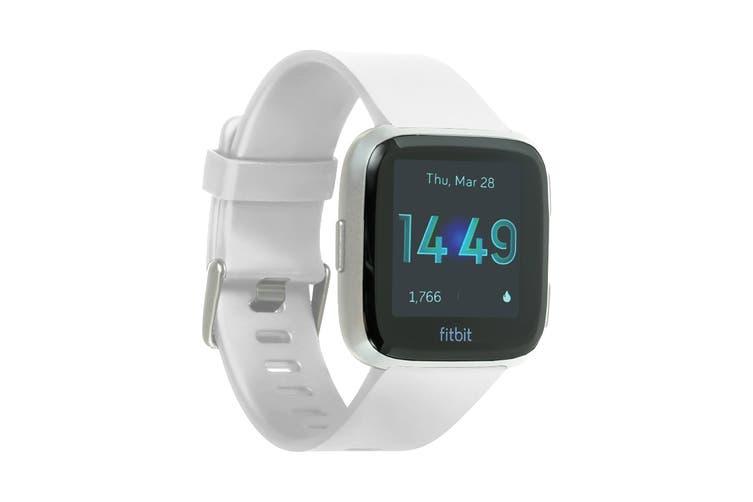 Fitbit Versa Lite Edition Fitness Watch (White, Silver Aluminium)