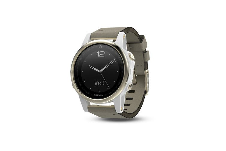 Garmin Fenix 5S Sapphire Edition Champagne with Grey Suede Band