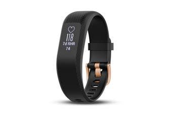 Garmin Vivosmart 3 (Small, Black with Rose Gold Buckle)