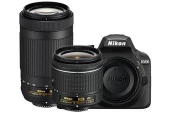 Nikon D3400 DSLR Camera 18-55mm VR & 70-300mm Twin Lens Kit