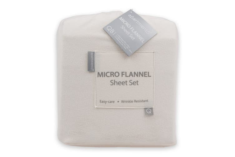 Apartmento Micro Flannel Sheet Set Snow (King)