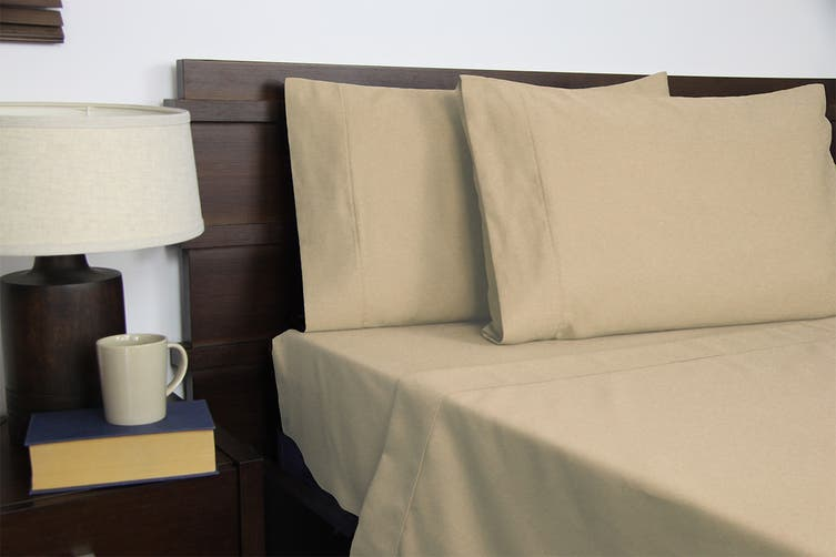 Apartmento Micro Flannel Sheet Set (Taupe, Double)