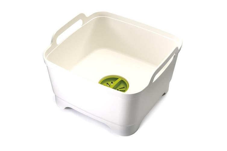 Joseph Joseph Wash & Drain Washing Up Bowl (White/Green)