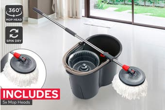 Kogan Magic 360° Spin Mop with 5 Mop Heads