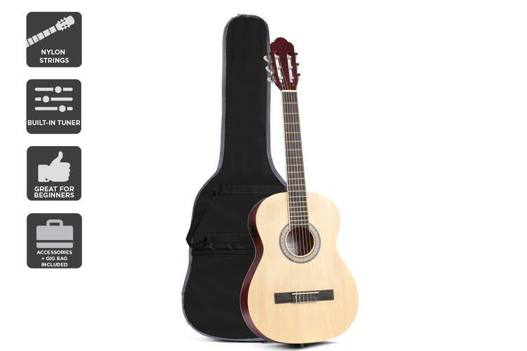 "Royale 3/4 Size 36"" Classical Guitar (Natural)"