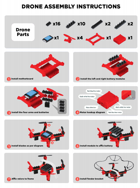 DIY Building Block Drone Instructions