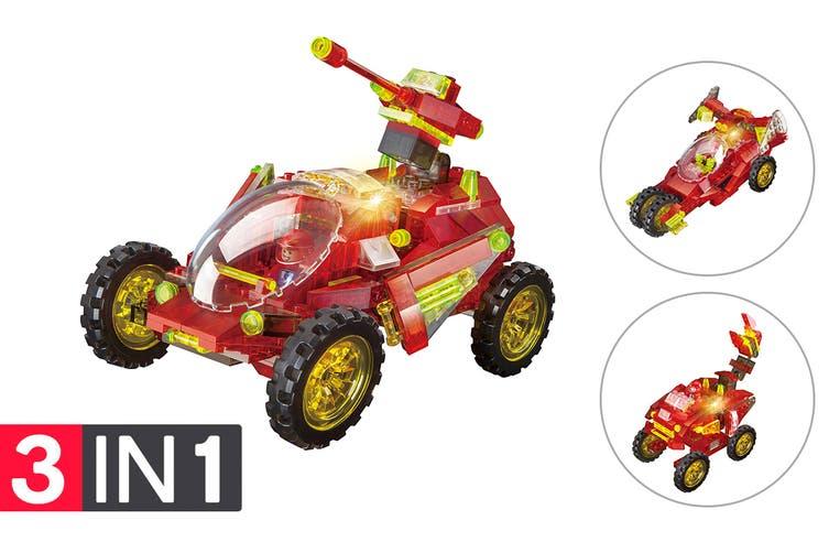 Lego Compatible MetaMorph Elite Blocks (Light Up Racing Car)