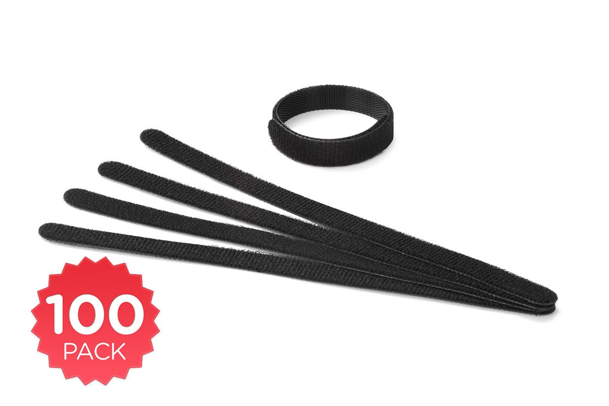Cables & Adapters - 100 Pack Kogan Reusable Velcro Style Cable Ties