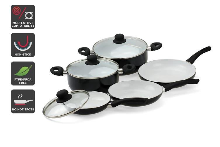 Ovela 8 Piece CeraMax Ceramic Cookware Set