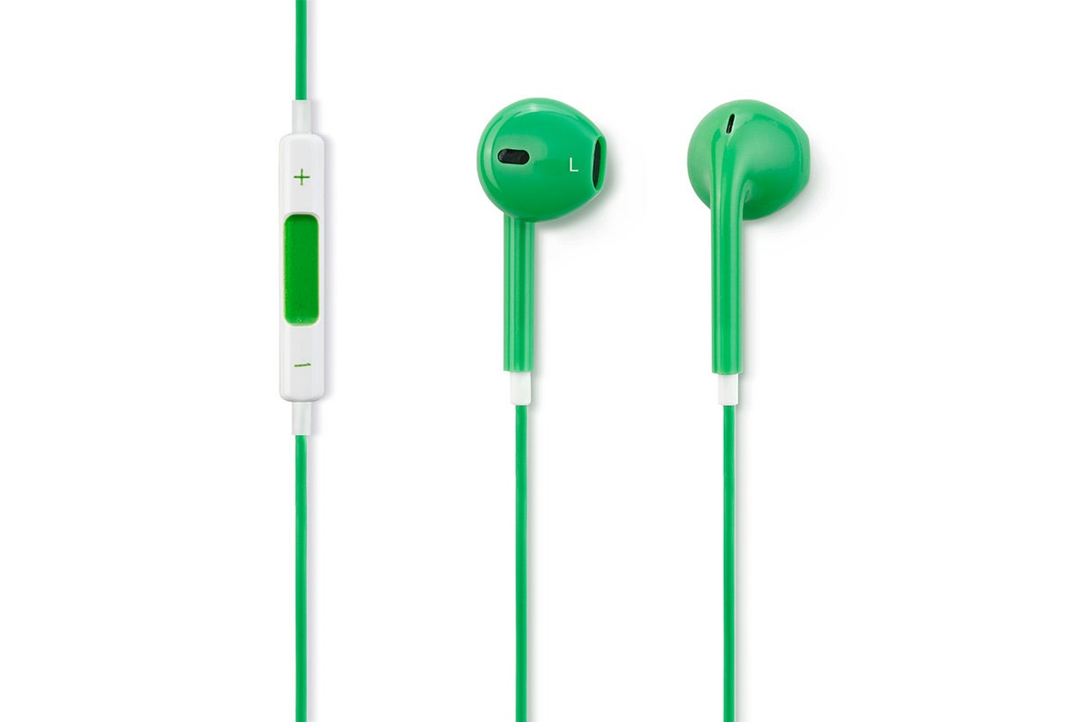 In-Ear Headphones - Kogan EarPods - In-Ear Headphones with Inline Remote & Mic (Green)
