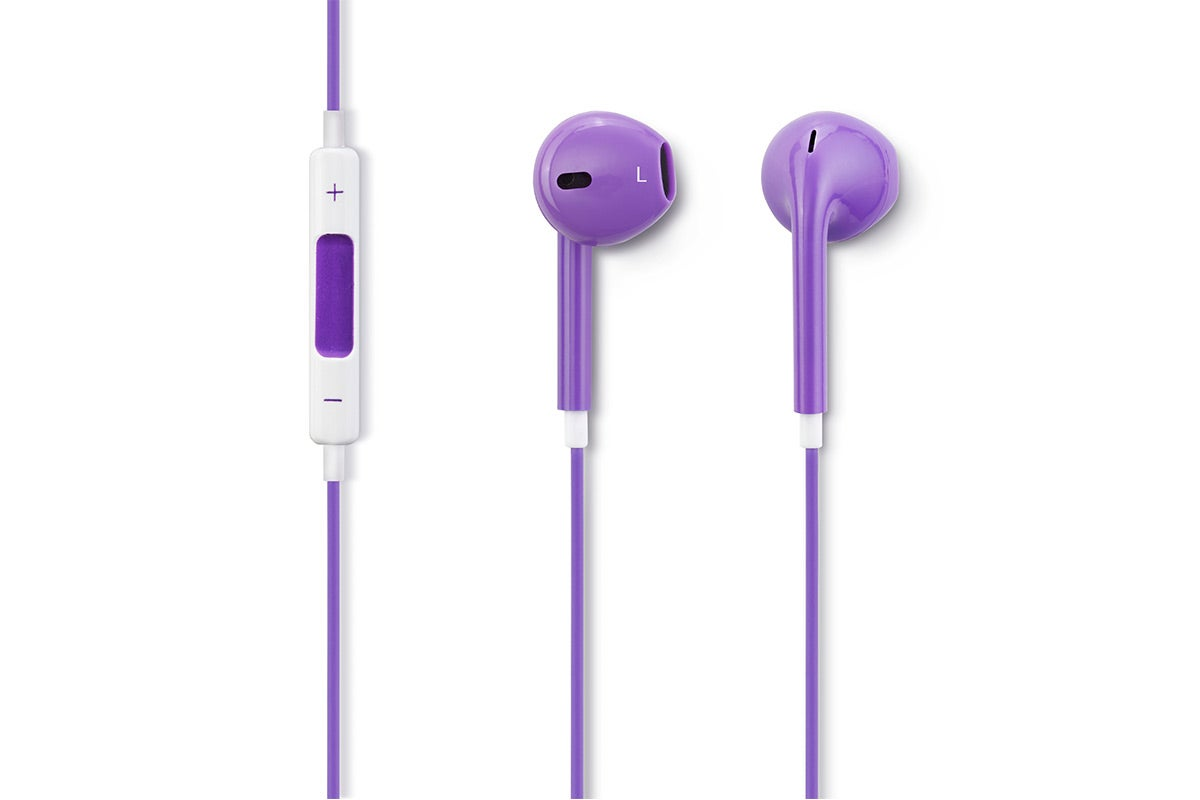 In-Ear Headphones - Kogan EarPods - In-Ear Headphones with Inline Remote & Mic (Purple)