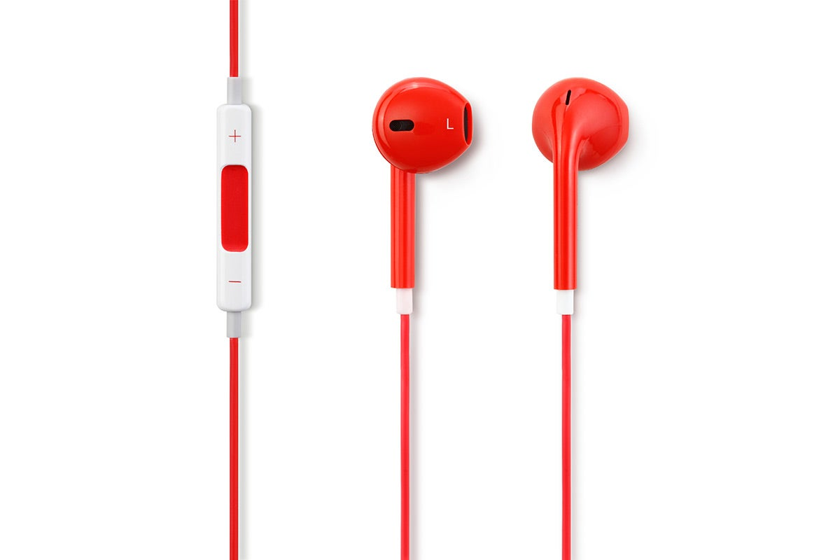 In-Ear Headphones - Kogan EarPods - In-Ear Headphones with Inline Remote & Mic (Red)